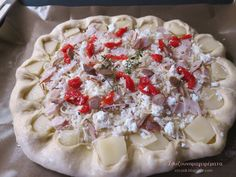 Ζουζουνομαγειρέματα: Πίτσα τυριών, με αρωματική ζύμη σκόρδου!!! Greek Recipes, Camembert Cheese, Appetizers, Pizza, Cross Stitch, Food, Party, Punto De Cruz, Appetizer
