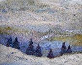 No.716 Treeline - Needlefelt Art XLarge