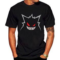 Nightmare gengar Poke mon Go Men's style T Shirts Black – Pokemon Tshirt for Men