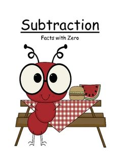Fern Smith's Math Center Game Subtraction ~ Facts With Zero Concept!