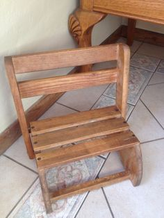 Wonderful Vintage Wooden Child's Step Stool Or Chair From Uline Industries