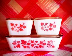 Vintage Pyrex Refrigerator Dishes - So cute!