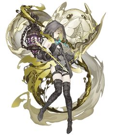 View an image titled 'Gretel, Envy Serpent Half-Nightmare Job Art' in our SINoALICE art gallery featuring official character designs, concept art, and promo pictures. Fantasy Character Design, Character Design Inspiration, Character Concept, Character Art, Concept Art, Fantasy Characters, Anime Characters, Female Characters, Anime Fantasy