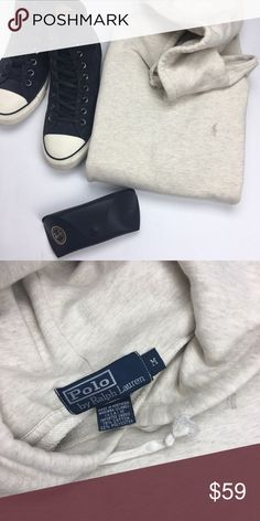 Polo Ralph Lauren Men's Cream Hoodie Used in Excellent Condition/ No Trades/ No PayPal/ Smoke & Pet Free Home/ Please Ask Questions!/ Like what you see but the price too high? Make an offer! / normal wash and wear Polo by Ralph Lauren Shirts Sweatshirts & Hoodies