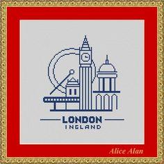 Cross Stitch Pattern City London1 vintage Counted от HallStitch