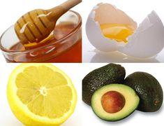 You'll need 1 ripe avocado 1 egg yolk 1 teaspoon of honey Squeeze of lemon juice Fork Bowl