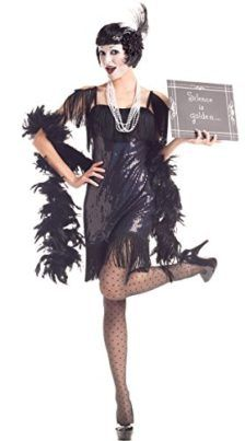 2020 Party King Women's Silent Movie Flapper 5 Piece Costume Set and more Flapper Costumes for Women, Retro Costumes for Women, Women's Halloween Costumes for Flapper Girl Costumes, Sexy Halloween Costumes, Adult Halloween, Costumes For Sale, Costumes For Women, Black And White Costume, Flapper Headband, Retro Costume, Sequin Mini Dress