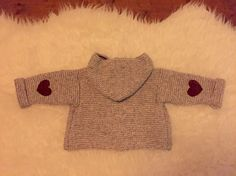 Too cute to be true! Knitted vest by my colleague. #present #babyboy #grey #cute