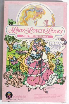 S931. VINTAGE: LADY LOVELY LOCKS AND THE PIXIETAILS Play Set By COLORFORMS 1986