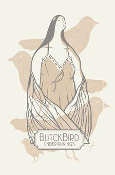 Kickstarter reward. Original screen print by Jeff Boozer! Blackbird Underpinnings, the MAVEN Collection!