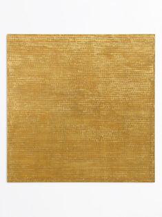 Hermann Staudinger, Goldwand Gold/Gelb, 2 x 2 cm, 120 x 120 x 3 cm, Kreidevergoldung auf gelbem Bolus