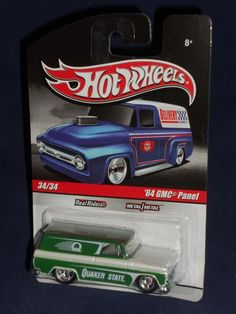 Hot Wheels 2010 Slick Rides Delivery Series   '64 GMC Panel Quaker State