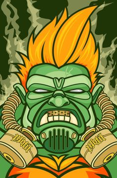 blanka gasd up Blanka Street Fighter, Sports Images, Bowser, Game, Fictional Characters, Gaming, Toy, Fantasy Characters, Games