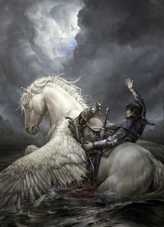 Morbid Fantasy — dreamer's death by Valera Lutfullina Mystical Animals, Mythical Creatures Art, Fantasy Creatures, Unicorn And Fairies, Unicorn Art, Fantasy Paintings, Fantasy Artwork, Unicorn Pictures, Horse Drawings