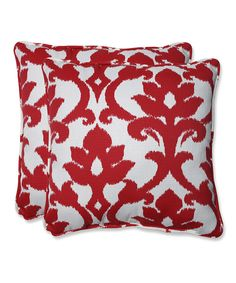 Cherry Bosco Throw Pillow - Set of Two by Pillow Perfect #zulily #zulilyfinds