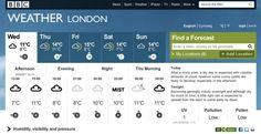 BBC Weather design 1