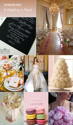Inspiration board for Paris wedding (Bellenza - Destination Wedding Series)