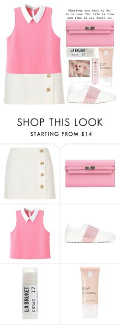 """► juliette"" by amxnduhh ❤ liked on Polyvore featuring River Island, Hermès, WithChic, Valentino, Toast, La Roche-Posay, Polaroid and By Terry"