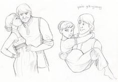 Kristoff and Anna! I would be careful what you say to her Kristoff! Kkkk so cute! Disney Films, Disney And Dreamworks, Disney Pixar, Frozen Art, Disney Frozen, Disney Couples, Disney Family, Disney Animation, Animation Film