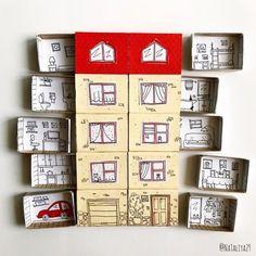 Matchbox Crafts, Matchbox Art, Fun Crafts, Arts And Crafts, Paper Crafts, Diy For Kids, Crafts For Kids, Paper Toys, Bookbinding