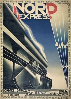 Nord Express Art Deco Travel Poste