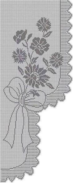 Crochet loin curtain - ElenaMa (Elena) 's post in the Community Crochet in the Crochet Accessories category Filet Crochet Charts, Crochet Motif, Crochet Designs, Crochet Doilies, Knit Crochet, Crochet Patterns, Crochet Home, Irish Crochet, Thread Crochet