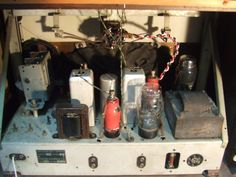 """Marconi M 49 """"Antique radio"""", """"Tube radio"""" Antique Radio, Radios, Cleaning Wipes, Tube, Projects, Vintage, Design, Log Projects, Blue Prints"""