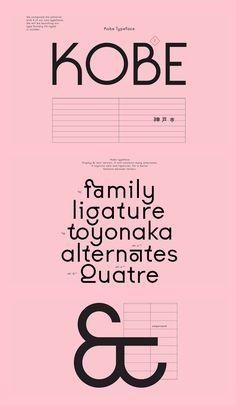Kobe — VJ-type Graphic Design Fonts, Font Design, Web Design, Type Design, Branding Design, Lettering, Typography Letters, Typography Logo, Pretty Fonts