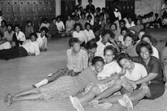 Girls between the ages of 14-17 sit in a detention center in Birmingham, Alabama during The Children's Crusade of 1963. (Getty)