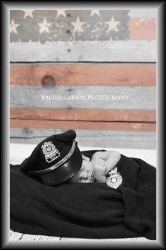 Newborn Portraits / Creative Photography /  Police / Law Enforcement / Baby / American Flag / Patriotic / Rachel Larson Photography