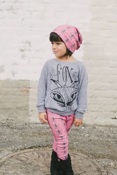 pink organic cotton bee beanie $28