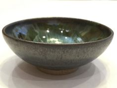 Wheel-thrown small bowl with graphite grey by SpinningSongPottery