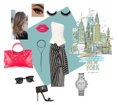 """""""I love nyc"""" by cathleen-williams ❤ liked on Polyvore featuring Joseph, Roland Mouret, Magma, Lime Crime, Michael Kors, Giuseppe Zanotti and Balenciaga"""