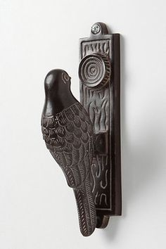 What's better than a woodpecker knocking wood for a door knocker!
