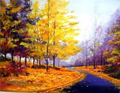 Pics For > Acrylic Paintings On Canvas Landscape Beautiful Landscape Paintings, Watercolor Landscape, Art Techniques, The Incredibles, Canvas, Gallery, Awesome, Creative, Acrylic Paintings