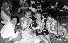 James Cagney with his wife + Jack & Cynthia Lemmon - Honolulu