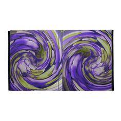 Purple N Olive Dolphin vs Eagle iPad Folio Case