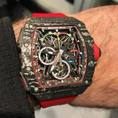 The brand new Richard Mille McLaren A limited edition of 75 pieces! Casual Watches, Cool Watches, Rolex Watches, Swiss Luxury Watches, Luxury Watches For Men, Most Beautiful Watches, Richard Mille, Apple Watch, Luxury Watch Brands