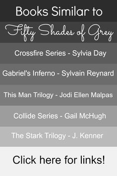"""Books similar to Fifty Shades of Grey. Awesome list!!!!  I would read Collide Series after Crossfire. I like that besides """"This Man Series"""" there really isn't much bdsm if any.  Haven't  read the Stark Trilogy yet...May have to add that to my list."""
