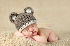 Chunky Brown Bear Hat