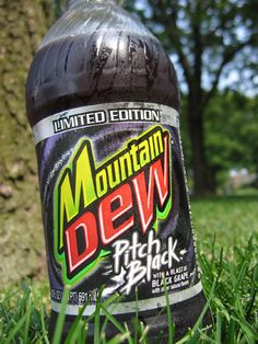 Mountain Dew Pitch Black.... Pepsi really needs to bring back this flavor again!