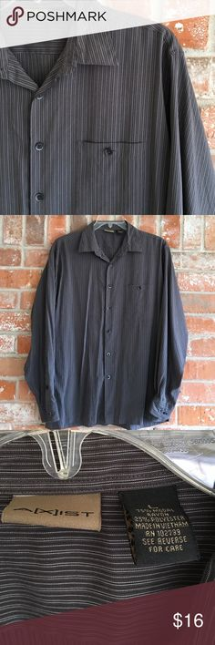 Men's Classy Casual Dress Shirt L This shirt is made with a very soft material. I love the soft feel of it. It is true to size. It is in EUC. No rips stains or tears. Axist Shirts Casual Button Down Shirts