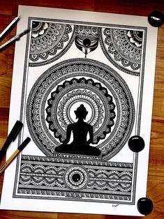 Mandala Art Therapy, Mandala Art Lesson, Mandala Artwork, Mandala Painting, Watercolor Mandala, Doodle Art Drawing, Mandala Drawing, Mandala Sketch, Doodling Art