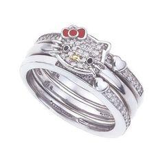10 Best Hello Kitty Wedding Ring Design Ideas Images Hello Kitty