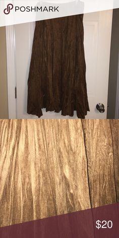 Cold water creek sz 2x velour skirt brown EUC Cold water creek sz 2x velour skirt brown EUC Coldwater Creek Skirts