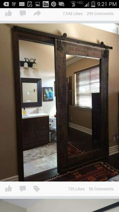 Love this door with mirror!