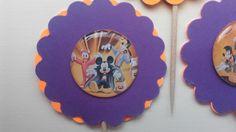Halloween Cupcake Toppers , Mickey Halloween Cupcake Toppers, Goofy Halloween…