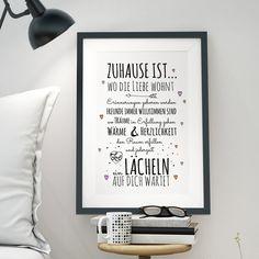 Wanddeko - A3 Print Druck Poster Hausordnung Familie p33 - ein Designerstück von IlkaParey bei DaWanda