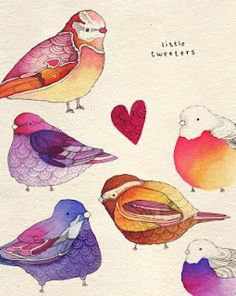 katie in wonderland: Bird Illustrators