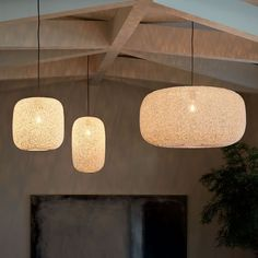 Open Weave Pendants   west elm. Like the biggest for over the kitchen table. Is white when turned off. Very affordable.